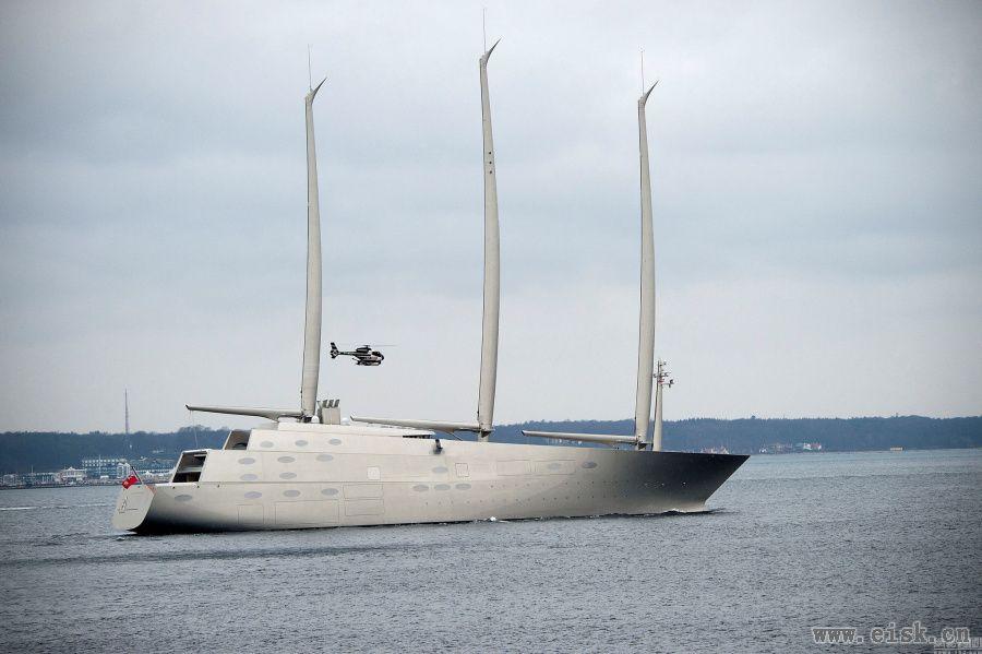 """价值3亿6千万英镑的奢华游船""""帆游艇A""""(Sailing Yacht A)"""