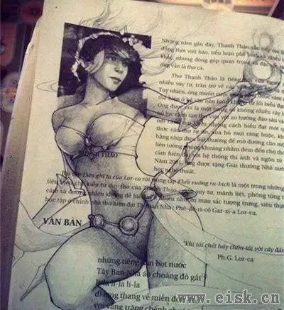 随便给我一本教科书,我都能把它画成18禁的小黄书!