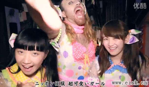 「胡须大叔」扮少女劲歌热舞 萌样席卷日本LADYBABY。