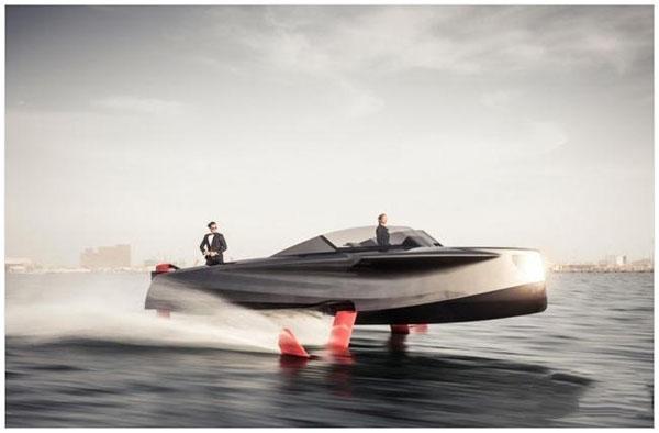 """Foiler水翼豪华游艇问世 具备""""黑科技""""的混合动力游艇"""